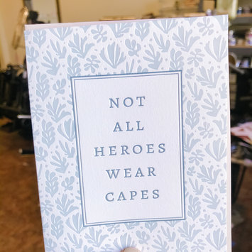 Gus and Ruby Letterpress Gus & Ruby Not All Heroes Wear Capes Card