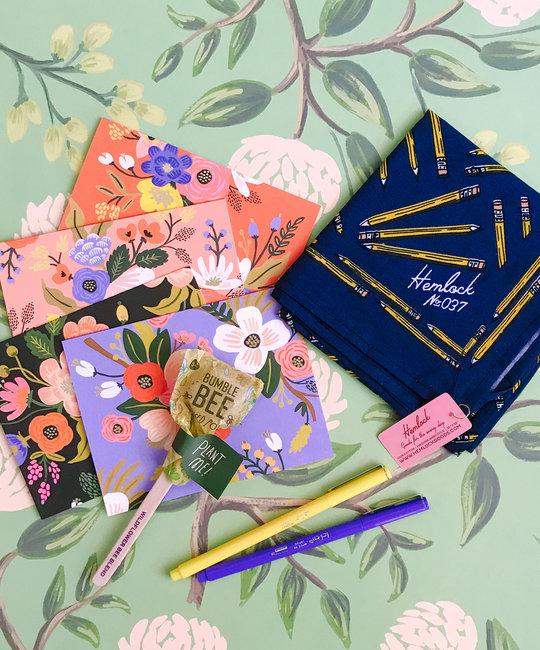 Gus and Ruby Letterpress - GR GR GB - Thank You Teacher Gift Box