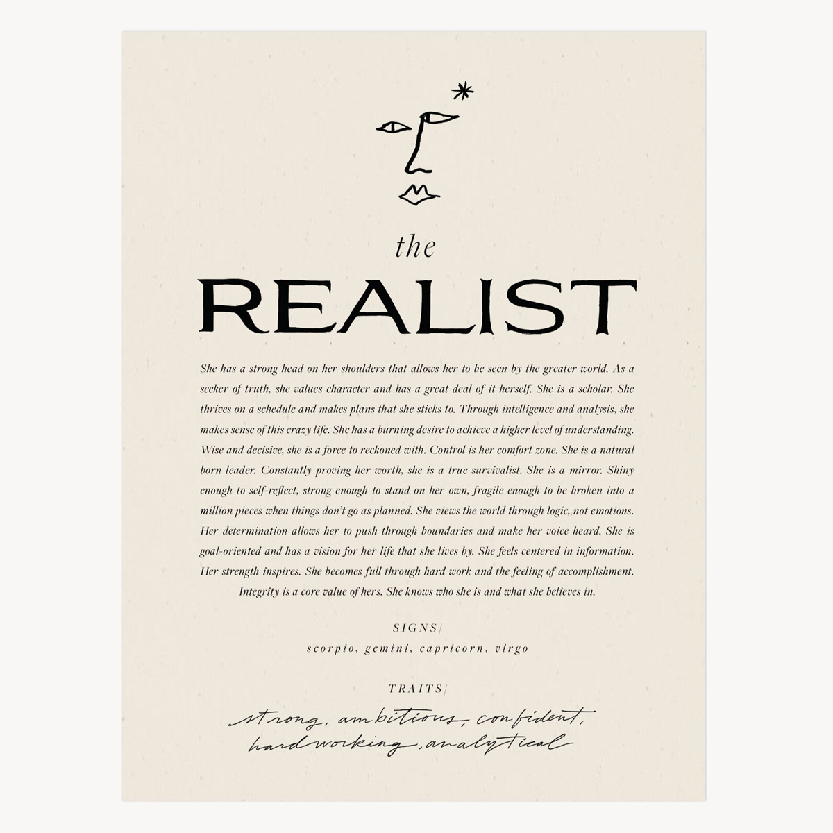 Wilde House Paper WHP PRSM - The Realist Print, 8 x 10 inch