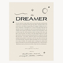 Wilde House Paper WHP PRSM - The Dreamer Print, 8 x 10 inch