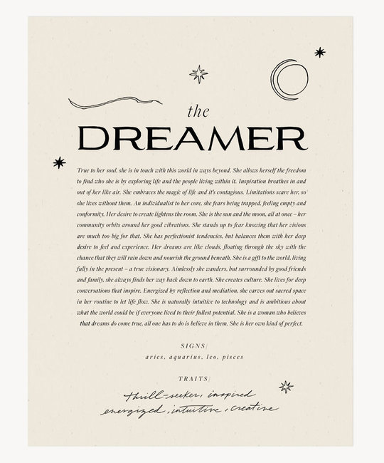 Wilde House Paper - WHP WHP PRSM - The Dreamer Print, 8 x 10 inch