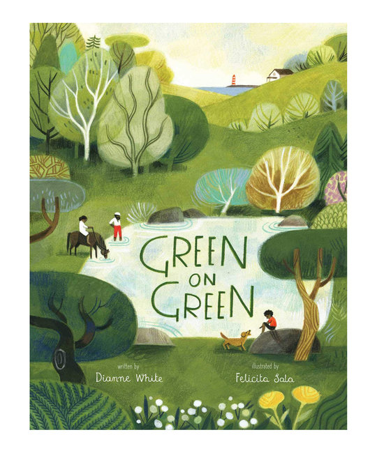 Simon and Schuster Green on Green by Dianne White and illustrations by Felicita Sala