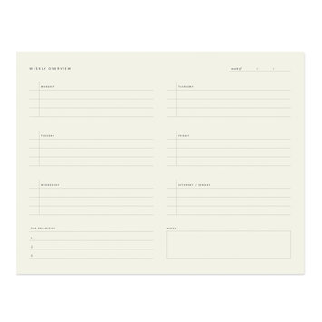 Ramona and Ruth - RR Weekly Overview Notepad