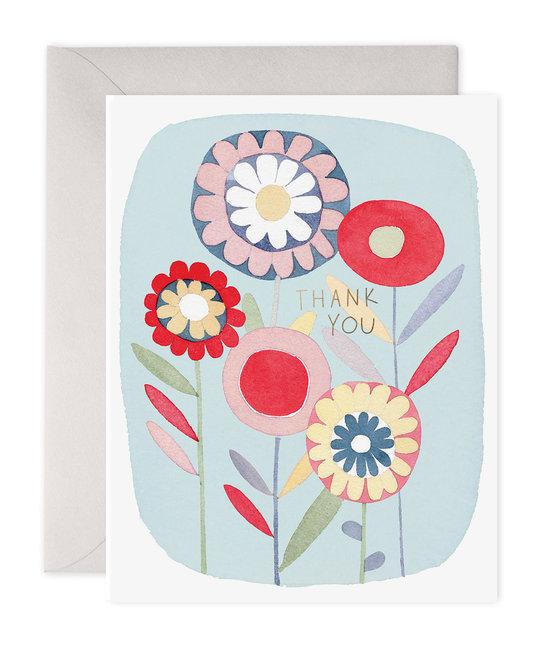 E. Frances Paper Studio Folky Flowers Thank You, Set of 6
