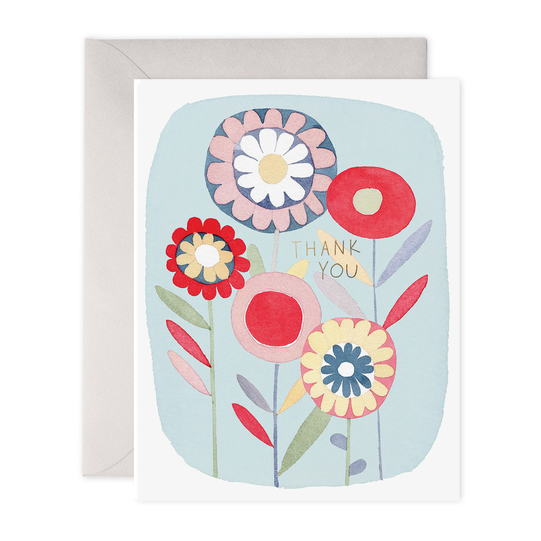 E. Frances Paper Studio Folky Flowers Thank You, Set of 6