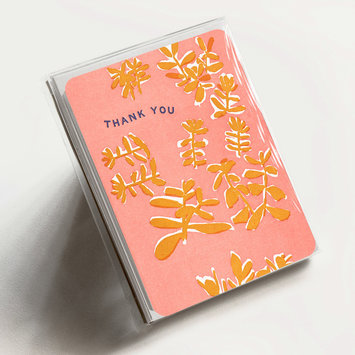 Hammerpress Thank You Painted Jade, Set of 6