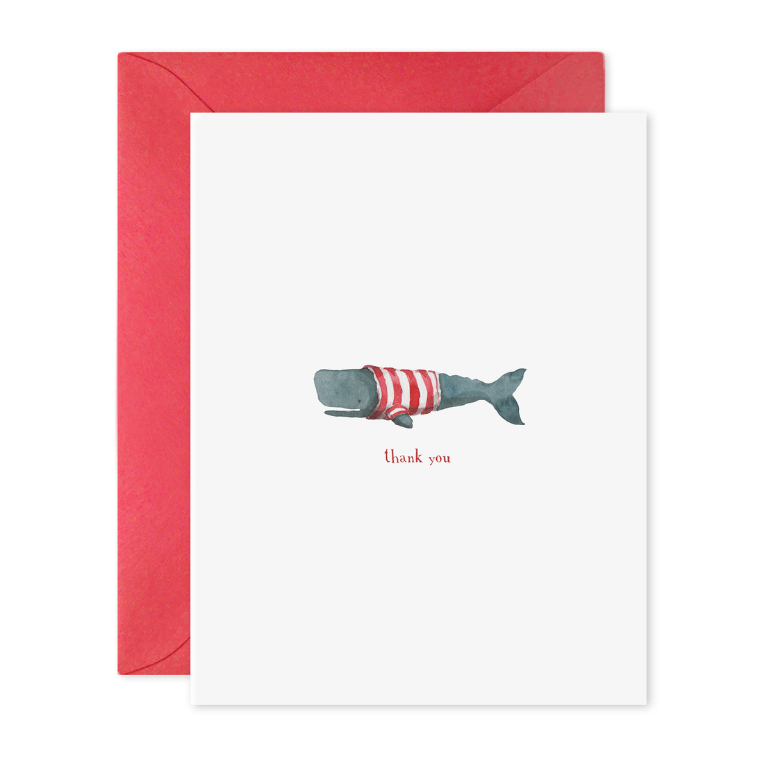 E. Frances Paper Studio - EF Stripe Whale Thank You, Set of 6