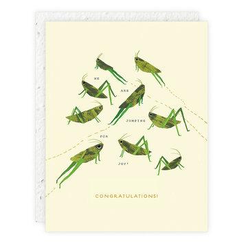 Seedlings - SED Jumpy For Joy Congrats Card