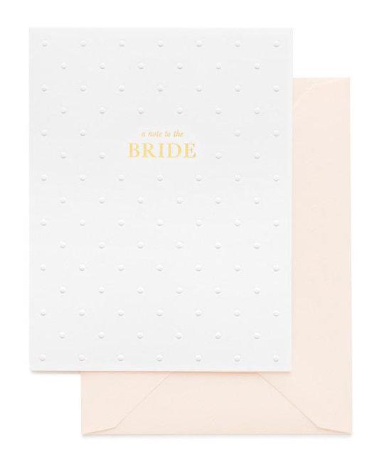 Sugar Paper - SUG A note to the bride