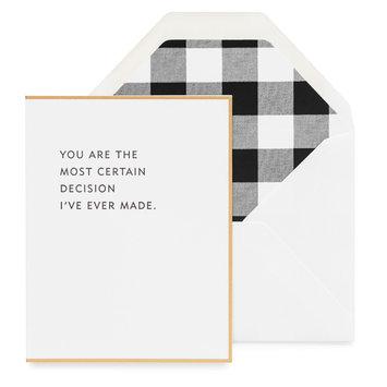 Sugar Paper Most Certain Decision