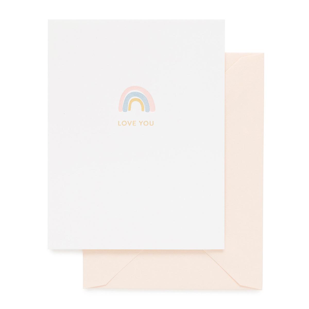 Sugar Paper - SUG Rainbow Love You Card