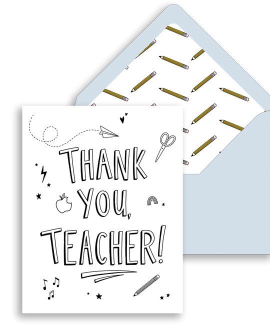 Gus and Ruby Letterpress - GR Gus & Ruby - Thank You, Teacher