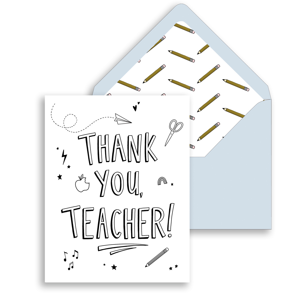 Gus and Ruby Letterpress Gus & Ruby - Thank You, Teacher set of 6