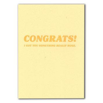 power and light letterpress Giant Novelty Check, Congrats