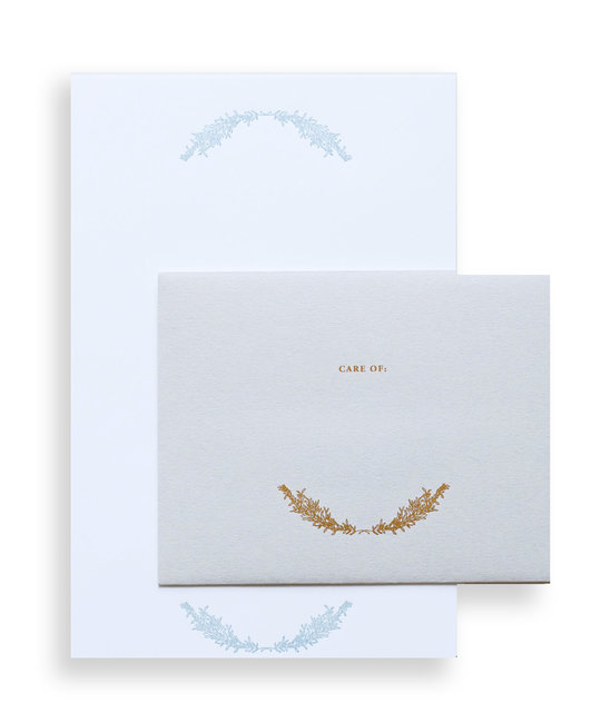 """Little Well Paper Co. """"CARE OF"""" Letter Writing Set"""