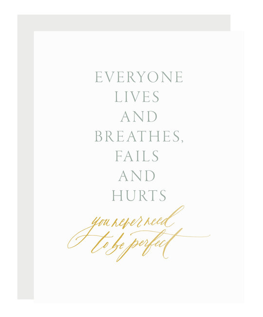 Little Well Paper Co - LWP Never Need to Be Perfect Card
