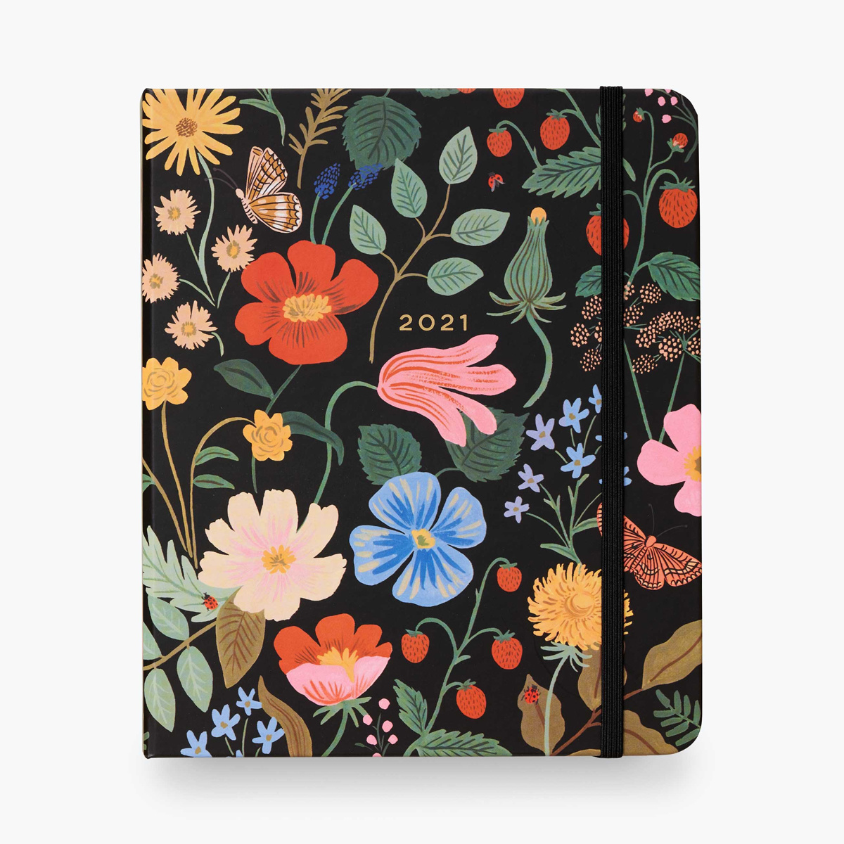 Rifle Paper Co. 2021 Strawberry Fileds Covered Spiral 17 Month Planner