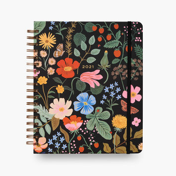 Rifle Paper Co. 2021 Strawberry Fields Hardcover Spiral 17 Month Planner