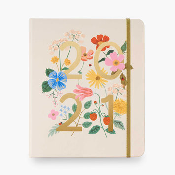 Rifle Paper Co 2021 Wild Garden Covered Spiral 17 Month Planner