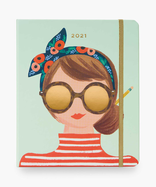 Rifle Paper Co 2021 Type A Covered Spiral 17 Month Planner