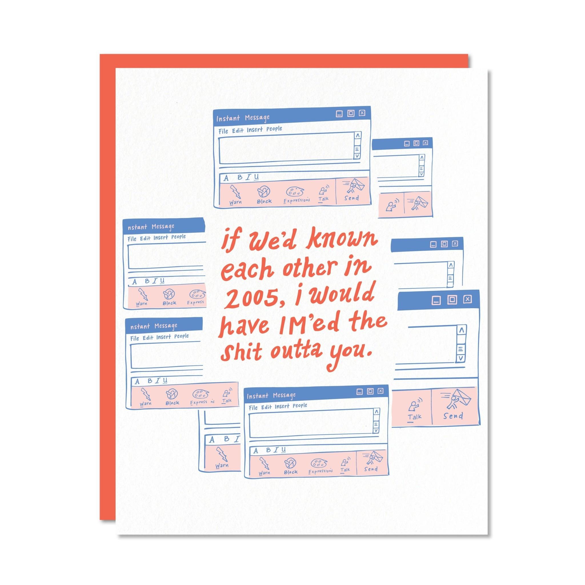 Odd Daughter Paper Im'ed Shit Outta You Card