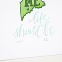 one canoe two letterpress OC PR - Maine Life Should Be, 5 x 7 inch