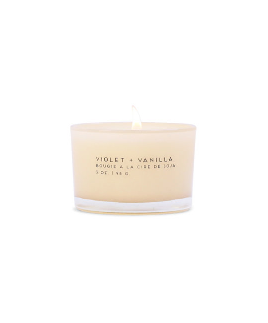 Paddywax - PA 3 oz. Violet + Vanilla Statement Candle