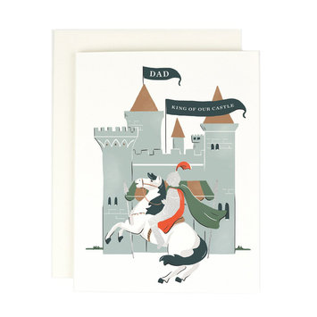 Amy Heitman Illustration - AHI Dad - King of Our Castle