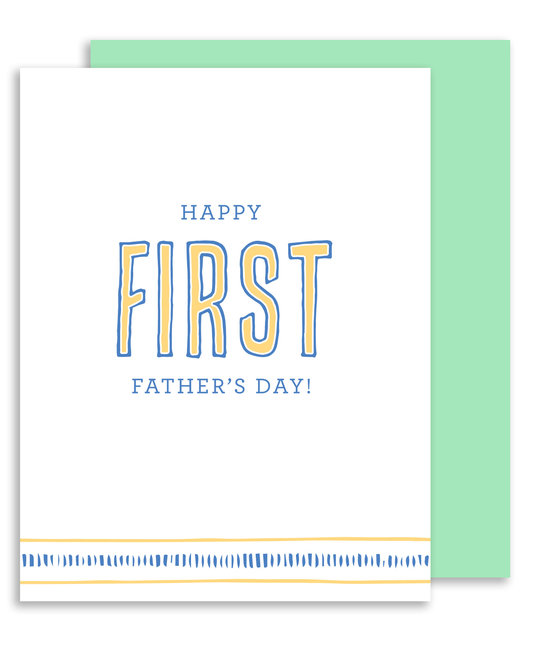 Gus and Ruby Letterpress - GR Happy First Father's Day!