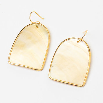 Uni-Forms Golden Wide Arch Shell Earrings