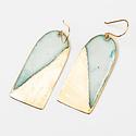 Uni-Forms Arch Rectangle Enamel Earrings