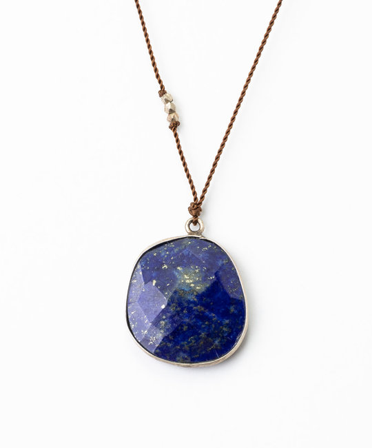 "Margaret Solow - MS Margaret Solow  Sterling Silver 20"" Lapis Necklace"