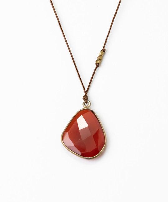 Margaret Solow - MS Margaret Solow Brass Carnelian Necklace