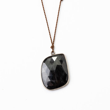 Margaret Solow Margaret Solow Sterling Silver Black Spinel Necklace