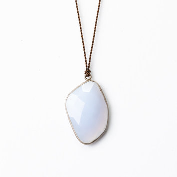 Margaret Solow Margaret Solow Sterling Silver Blue Chalcedony Necklace