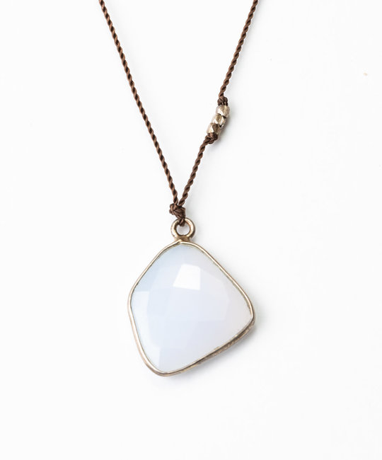 """Margaret Solow - MS Margaret Solow Sterling Silver Blue Chalcedony 20"""" Necklace"""