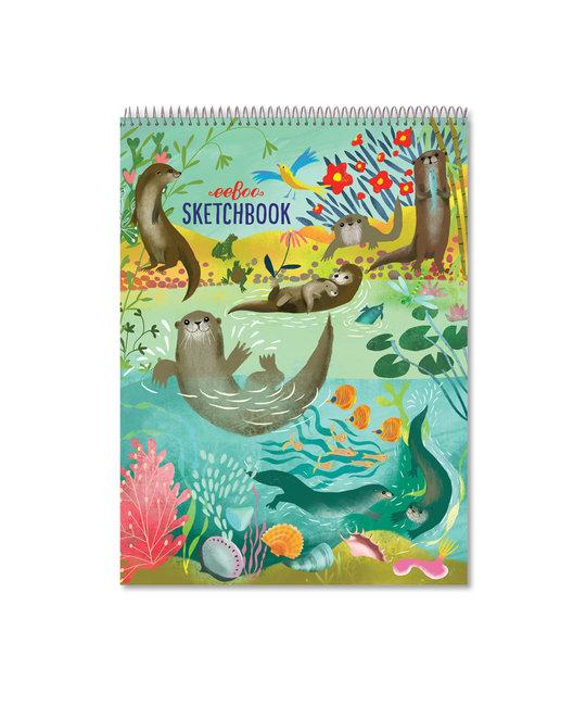 Eeboo Otters at Play Sketchbook - blank