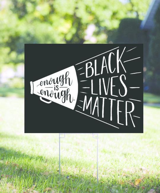 Gus and Ruby Letterpress - GR Black Lives Matter Yard Sign