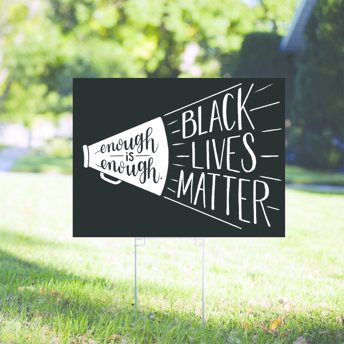 Gus and Ruby Letterpress Black Lives Matter Yard Sign PRE-ORDER