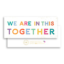 Gus and Ruby Letterpress Gus & Ruby - We Are In This Together, gold foil