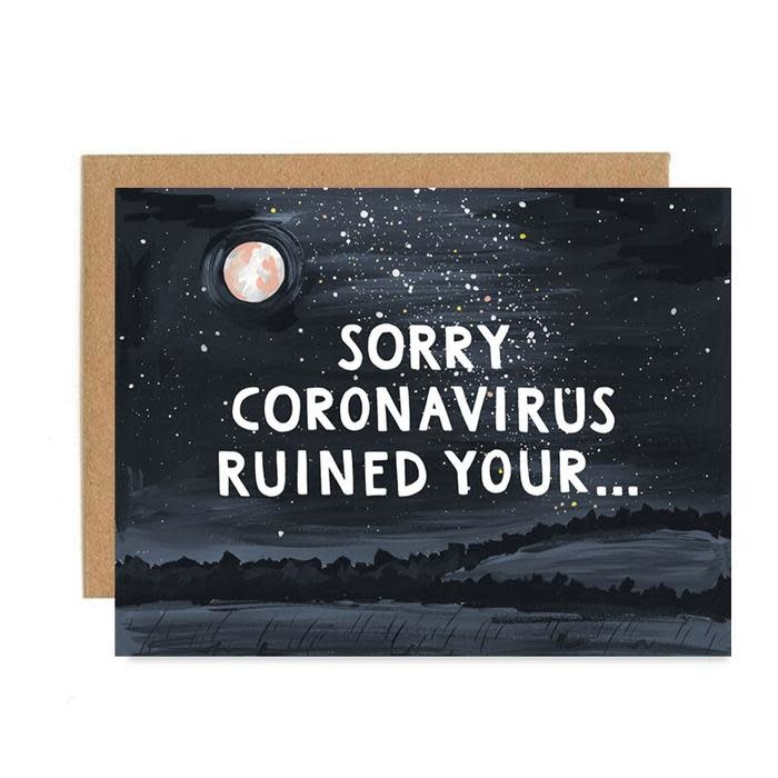 one canoe two letterpress Sorry Coronavirus Ruined Your...Card