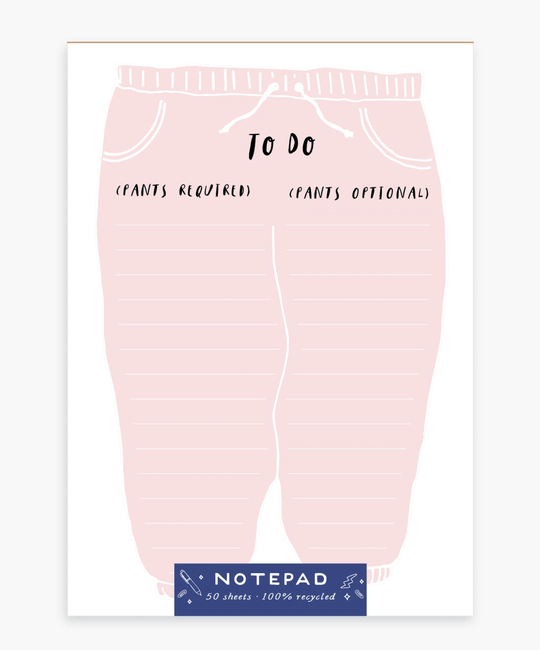 Party of One - POO Sweatpants Notepad