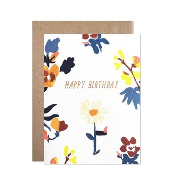 Hartland Brooklyn HARGCBI0019 - Happy Birthday Laura Floral Print Card