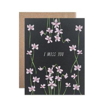 Hartland Brooklyn HARGCMI0014 - I Miss You Violets Card