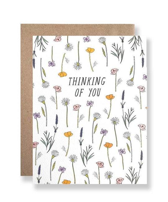 Hartland Brooklyn HARGCSY0007 - Thinking Of You Wildflowers Card