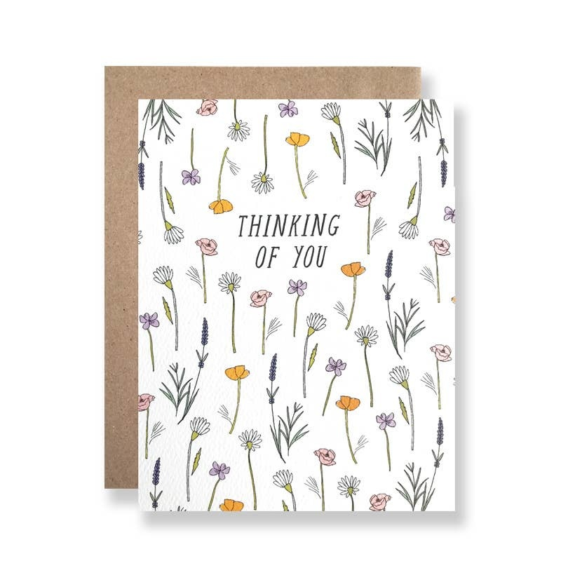 Hartland Brooklyn HARGCSY0007 - Thinking Of You Wildflowers Card