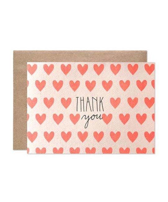 Hartland Brooklyn HAR NSTY - Neon Hearts Thank You Notes, Set of 8