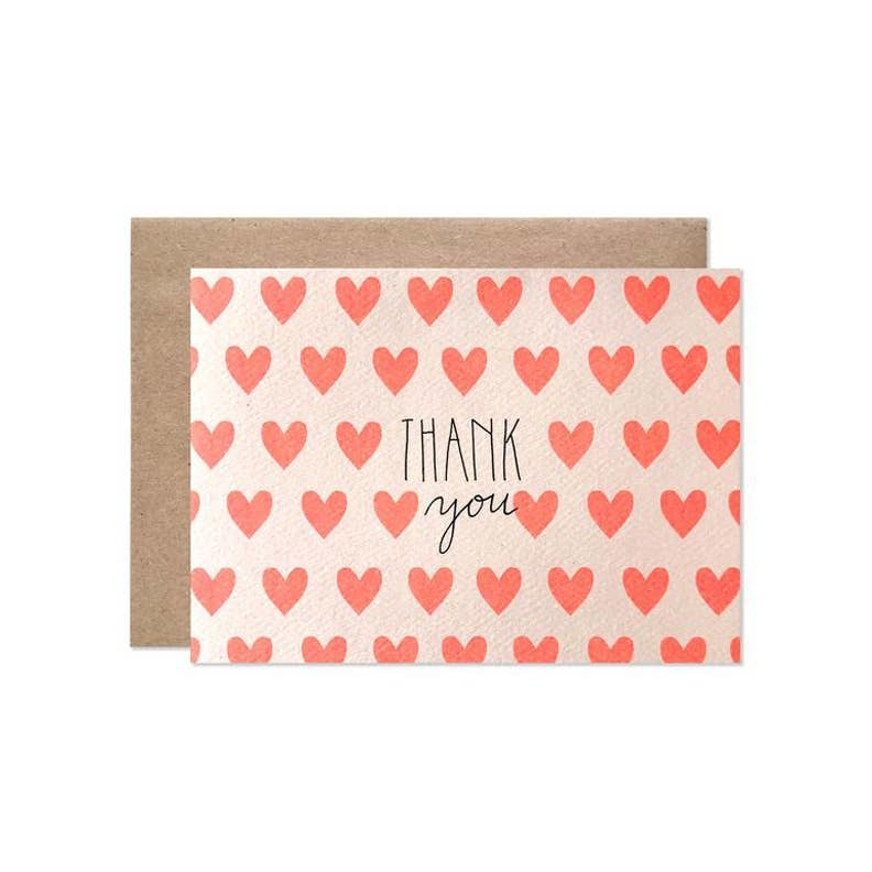 Hartland Brooklyn HAR NSTY - Neon Hearts Thank You Notes, Set of 8