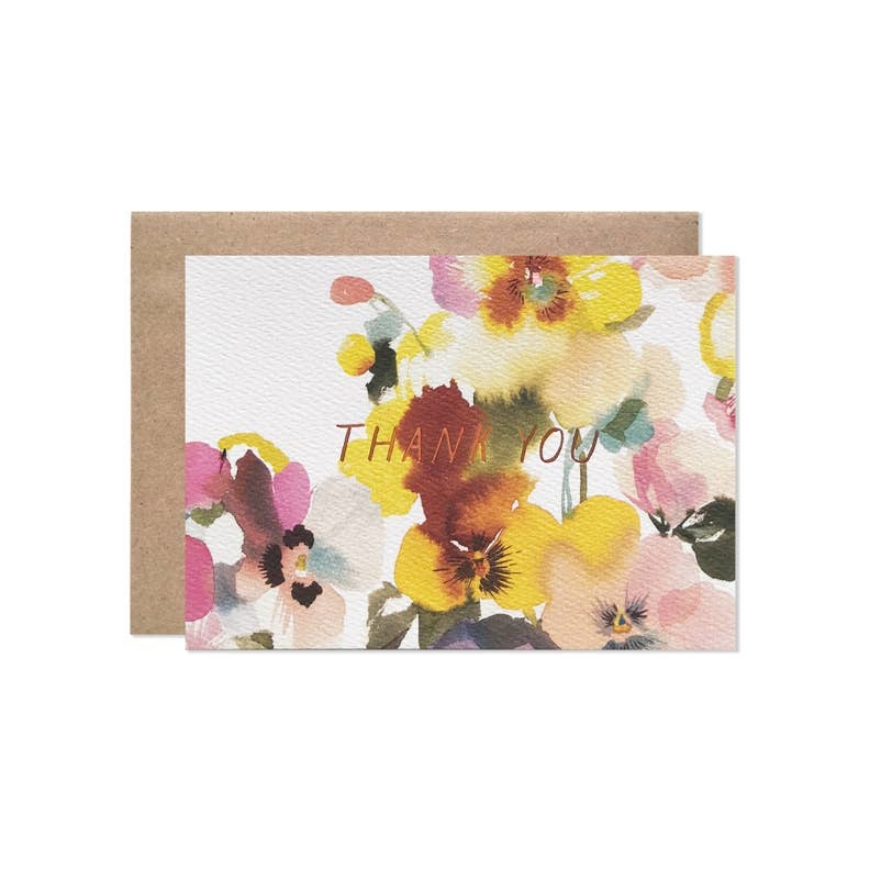 Hartland Brooklyn - HAR HARGCTY0016 - DEALTRY X HB Thank You Pansies Card