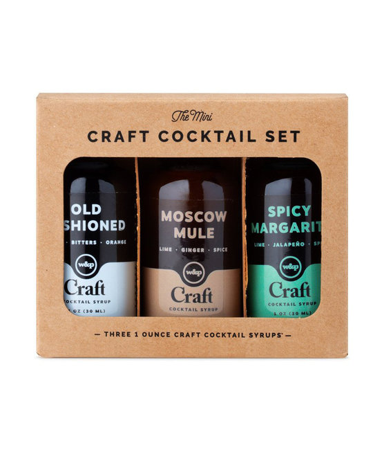 W&P Design - WP Mini Cocktail Syrup 3-Pack Set: Old Fashioned, Moscow Mule, Spicy Margarita